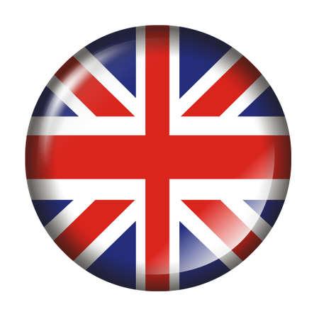 bandera de reino unido: Reino Unido Bandera Bot�n con efecto 3D