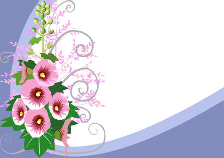 smaller: Floral background with space for your, download large hi-res .jpg and a smaller .jpg