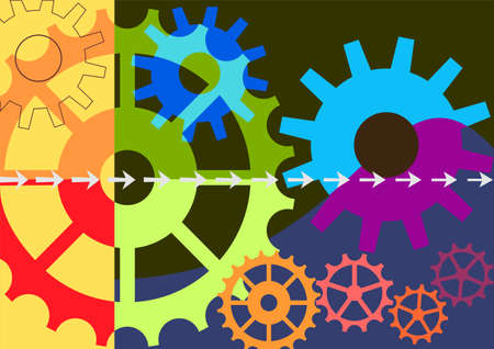 Dynamic colorful vector background Vector