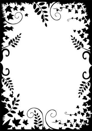 Meadow vector floral frame Illustration