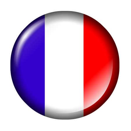 bandera francia: Bandera de Francia bot�n Foto de archivo