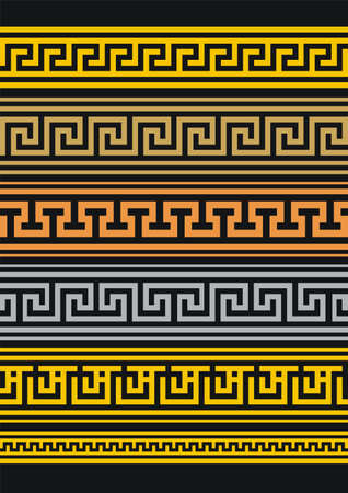 neoclassical: Set of vector borders