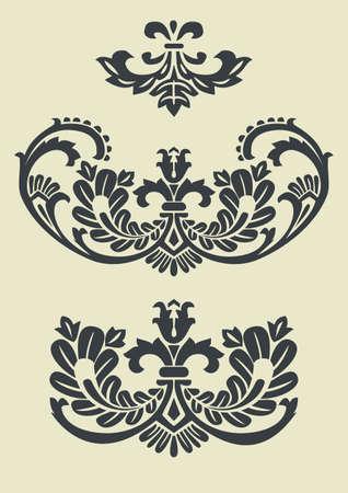 rococo: Set of vector baroque patterns for design