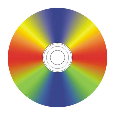 cd label: Blank colorful vector CD label Illustration
