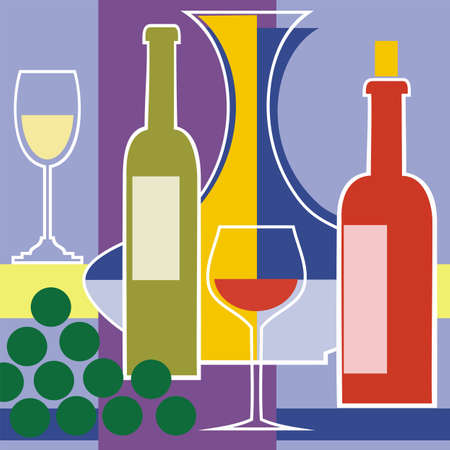 Red and white wine vector background Vector