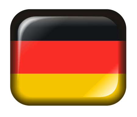 Germany Flag Button with 3d effect, isolated in white photo