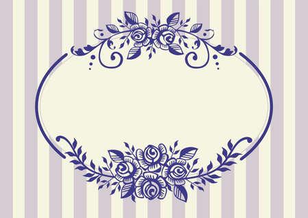 floral vector: Vintage marco rosas