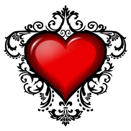 victorian valentine: Baroque heart