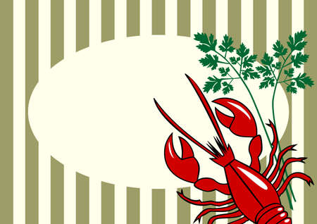 crawfish: Vector red lobster background