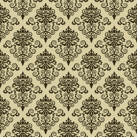 wallpaper: Seamless damask pattern wallpaper