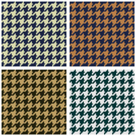 Houndstooth seamless fabric pattern