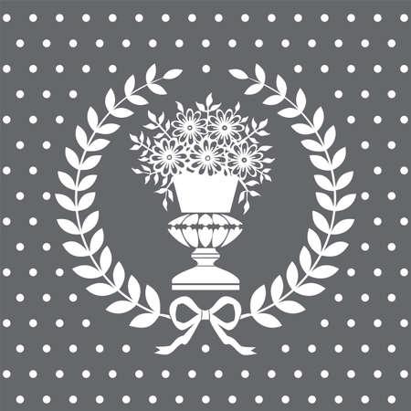 Bambina in un vaso di corona di alloro, modello neoclassico