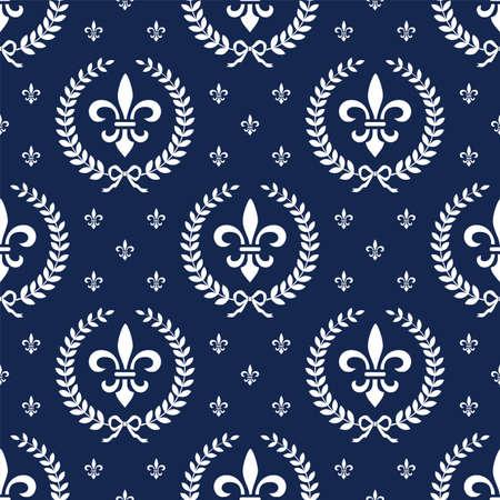 neocl�sico: Patr�n de neocl�sico textil transparente con la corona de laurel