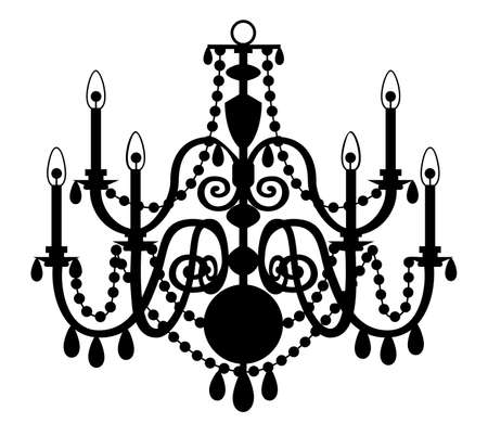 chandelier: Vector chandelier isolated on the white background