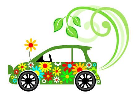 Ecological car Ilustracja