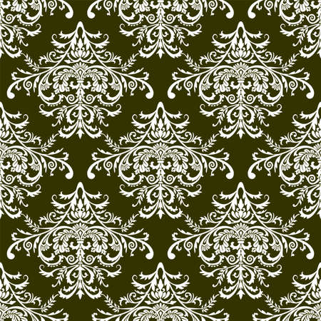 Seamless stylish wallpaper, vector illustration