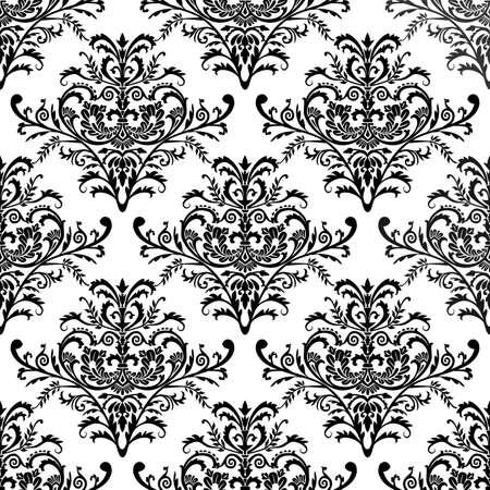 Naadloze barok patroon Stockfoto - 4588083