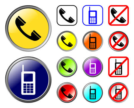 Phones icons, web elements Vector