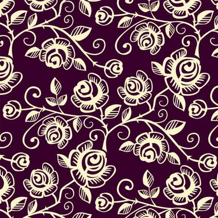장미 원활한 패턴 일러스트