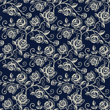 vector ornaments: Seamless pattern with roses Illustration