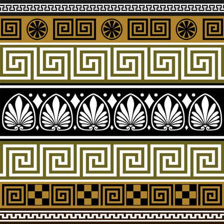 Set of greek borders Stock Vector - 4824715