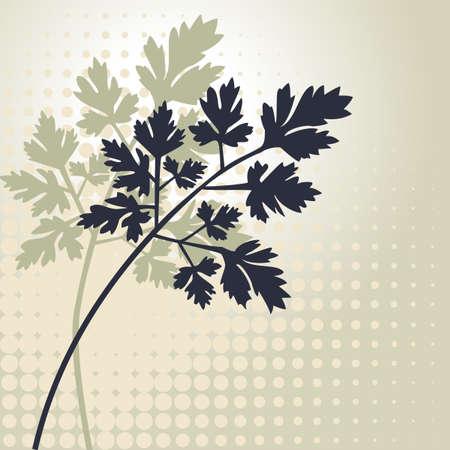 Plants vector silhouettes Vector