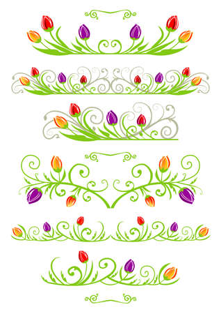 vector decoration: Spring banners