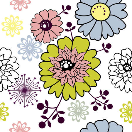 Retro floral seamless background Stock Vector - 4889399