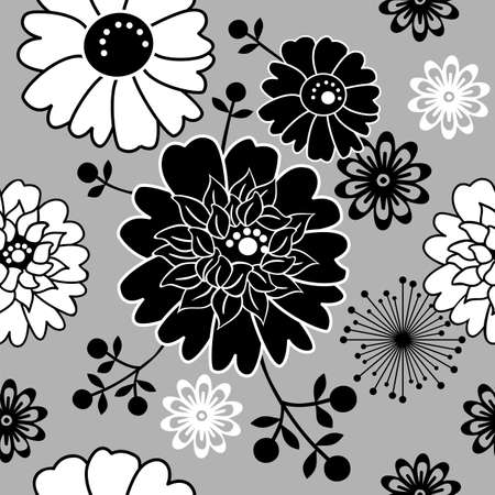 Floral seamless background Stock Vector - 4889396