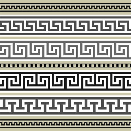 neoclassical: Greek borders collection