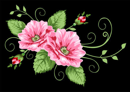 Victorian rose pattern Vector