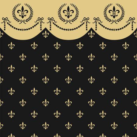 Empire seamless pattern Vector