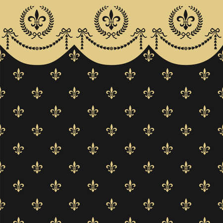 neoclassical: Empire seamless pattern