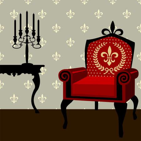 chandelier background: Interior Illustration