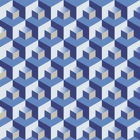 teaser: Blue cubes pattern