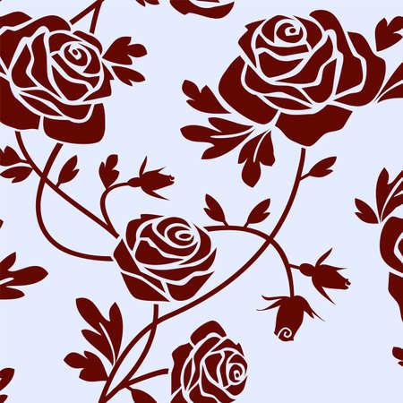 Roses tile Stock Vector - 5224075