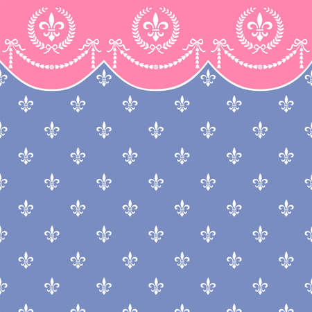 neoclassical: Retro vector seamless pattern with garland