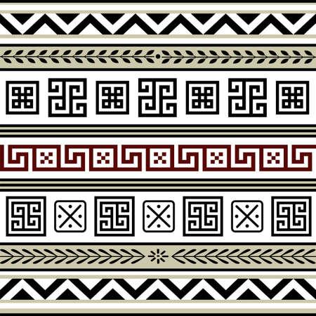 simple border: Set of antiques borders Illustration