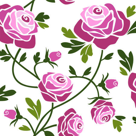 floral ornaments: Roses Illustration