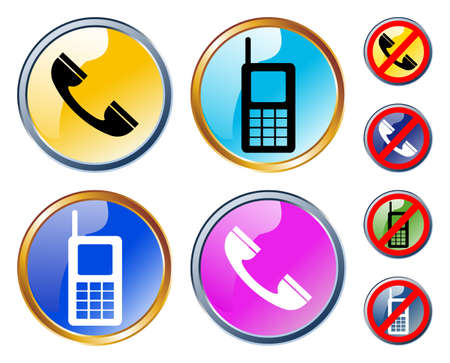 Vector glossy phones icons Vector