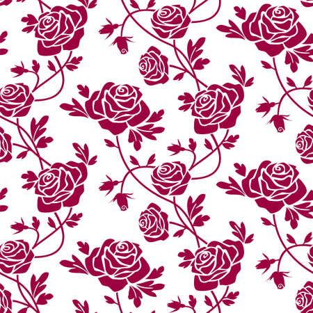 Roses seamless pattern Stock Vector - 5318977