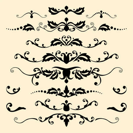 Set of antique vector ornaments Illustration