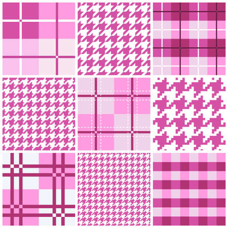 Pink seamless pattern collection Vector