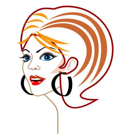 Vector woman's face Stock Vector - 5568124