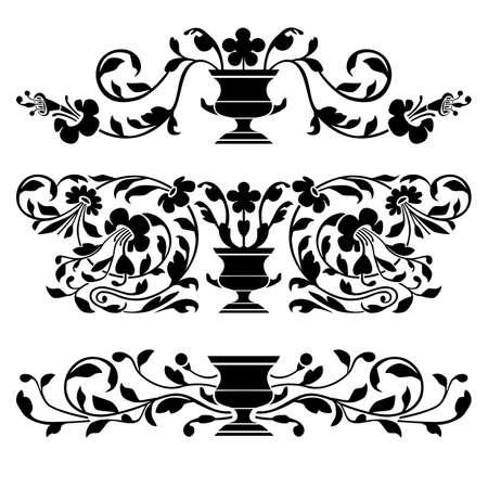 Antique vector ornaments Vector