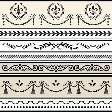 Repeating Scroll Borders Illustration