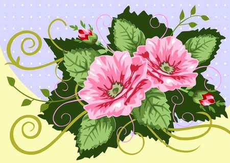 Victorian rose bouquet Vector