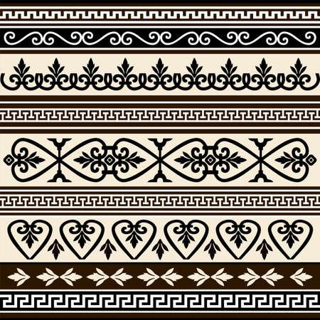 Collecties van vector antieke grenzen voor ontwerp Stockfoto - 5748742