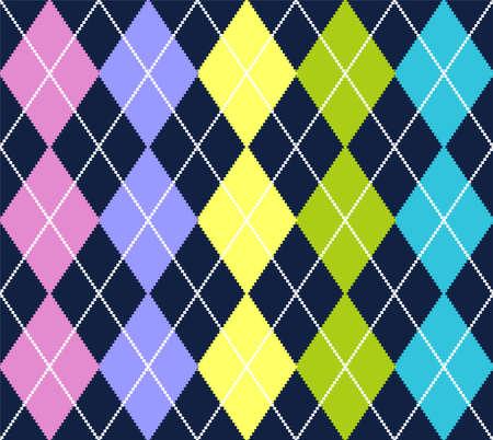 Vector argyle pattern