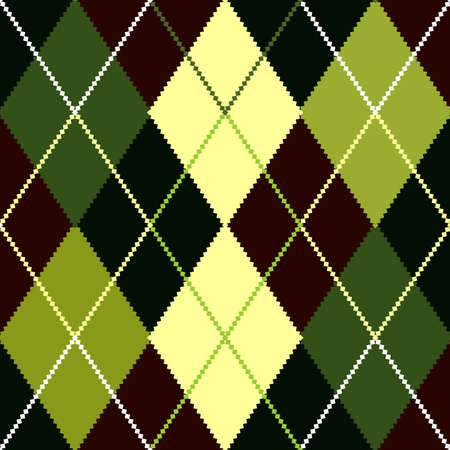Vector green argyle pattern Vector